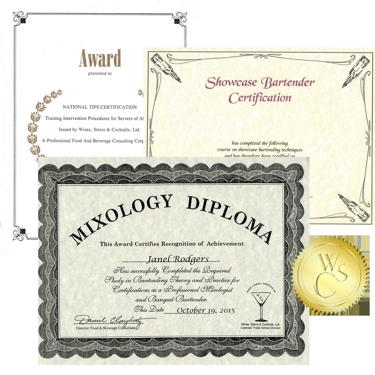 Professional Bartenders Certification Plus